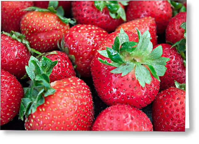 Strawberry Delight Greeting Card by Sherry Hallemeier