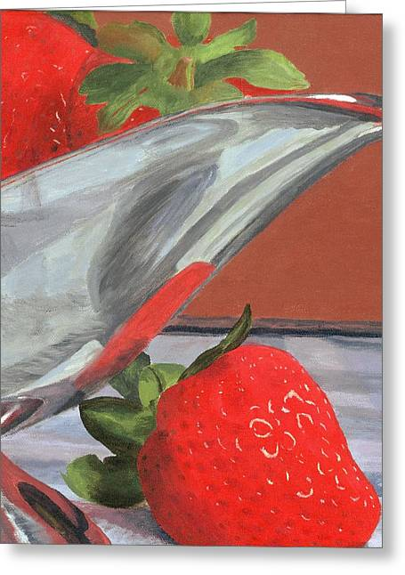 Strawberry Paintings Greeting Cards - Strawberry Season Greeting Card by Lynne Reichhart