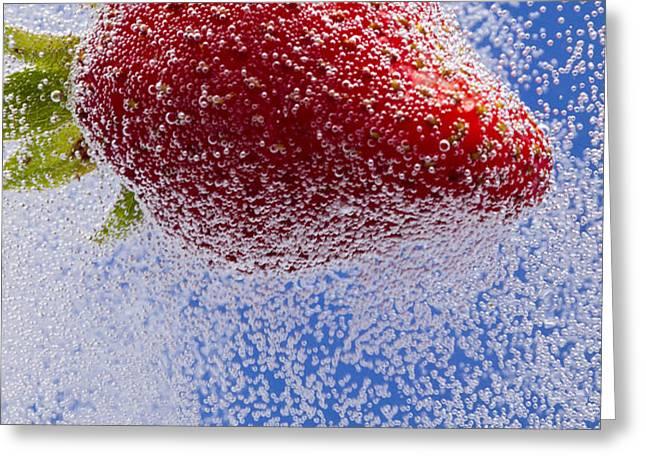 Strawberry Soda Dunk 2 Greeting Card by John Brueske