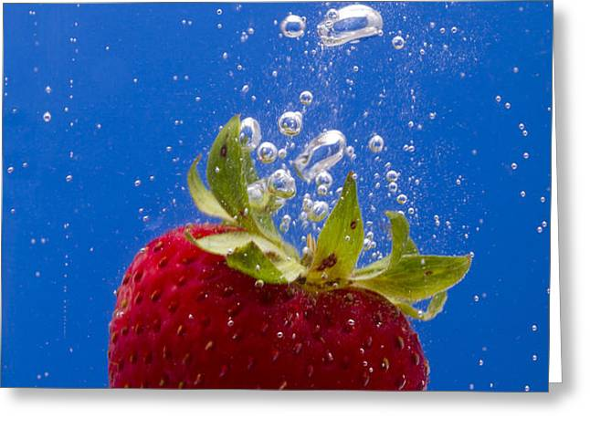 Strawberry Soda Dunk 5 Greeting Card by John Brueske