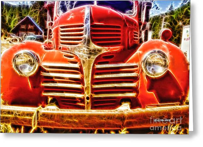 Truck Digital Greeting Cards - Strawberry Truck Greeting Card by Mo T