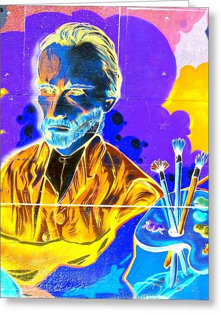 Male Greeting Cards - Street Art Van Gogh 2 Greeting Card by Randall Weidner