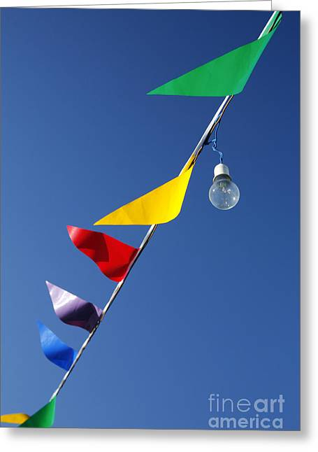 Moving Colors Greeting Cards - Street decorations Greeting Card by Gaspar Avila