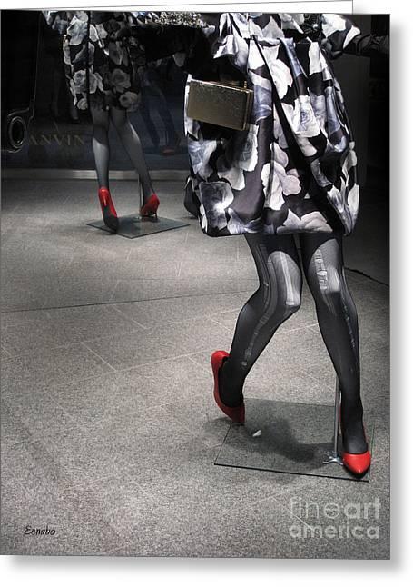Lanvin Greeting Cards - Street Fashion Greeting Card by Eena Bo