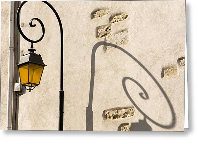 street lamp and shadow Greeting Card by Igor Kislev