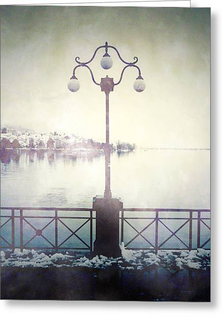 Street Lantern Greeting Cards - Street Lamp Greeting Card by Joana Kruse