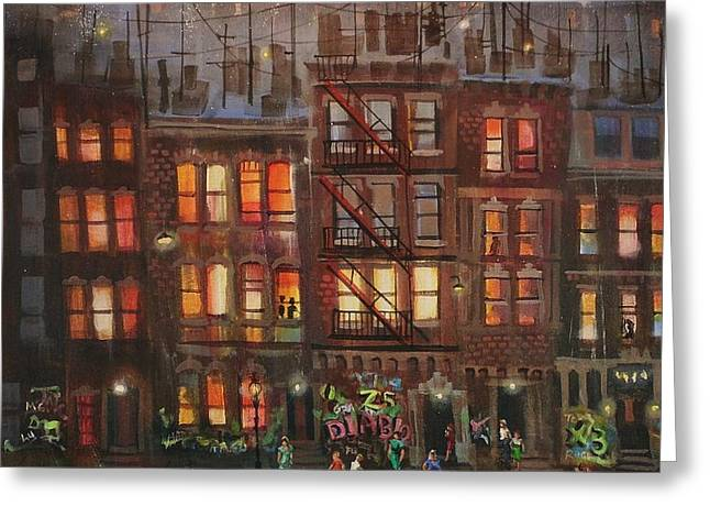 Street Life Greeting Card by Tom Shropshire