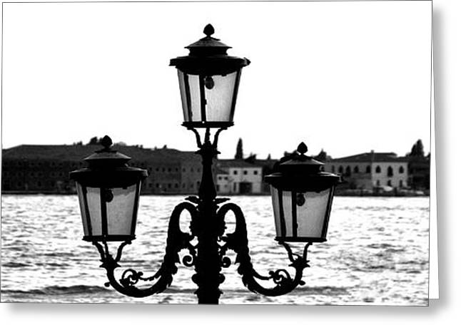 Street Light Greeting Card by Photography Art