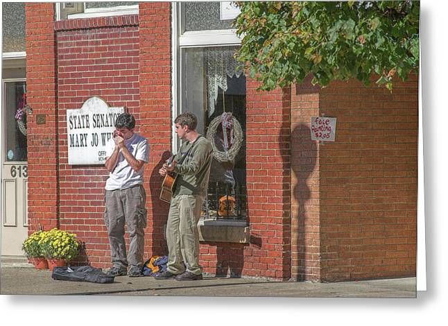 Street Musicians Greeting Cards - Street Musicians Greeting Card by Randy Steele