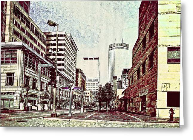 Minnesota Photo Greeting Cards - Street of Minneapollis Greeting Card by Susan Stone