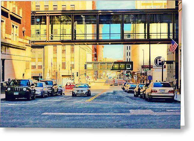 Minnesota Photo Greeting Cards - Street of St. Paul Minnesota Greeting Card by Susan Stone