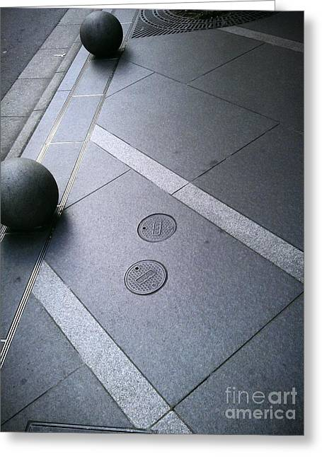 Street Ball Greeting Cards - Street Patterns Greeting Card by Eena Bo