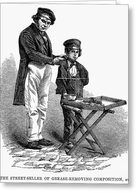 Employer Greeting Cards - Street Peddler, 1861 Greeting Card by Granger