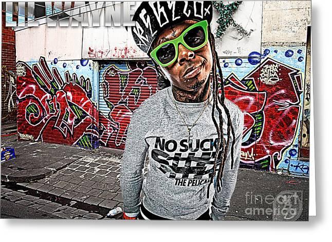 Street Phenomenon Lil Wayne Greeting Card by The DigArtisT