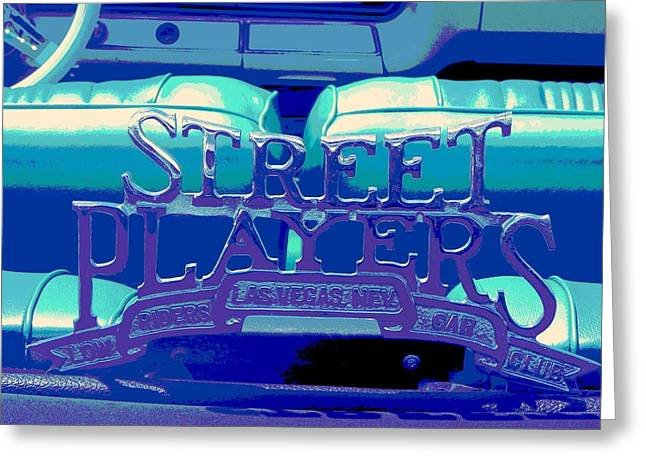 Tricked-out Cars Greeting Cards - Street Players Car Club Greeting Card by Chuck Re