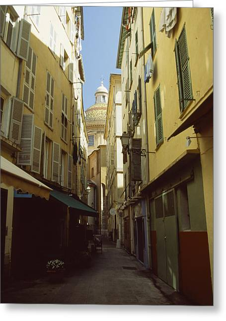 Window Of Life Greeting Cards - Street Scene In Nice Greeting Card by David Evans