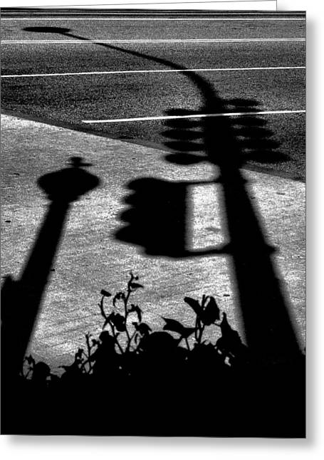Shadows Framed Prints Greeting Cards - Street Shadows Greeting Card by Steven Ainsworth