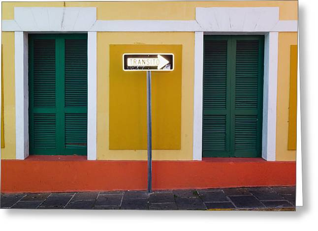 Puerto Rico Greeting Cards - Street Sign  Greeting Card by George Oze