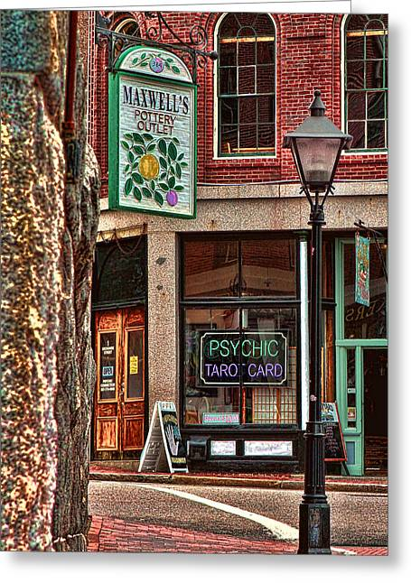 Maxwell Greeting Cards - Street Signs Portland Maine Greeting Card by Tom Prendergast