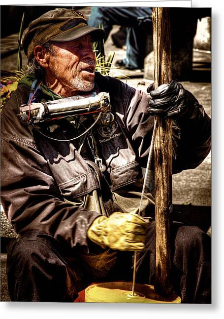 Street Musicians Greeting Cards - Street Symphony Greeting Card by David Patterson