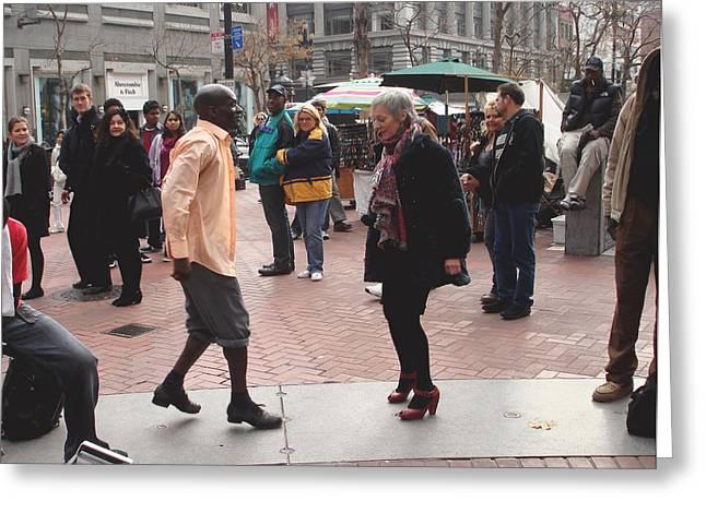 African-american Photographs Greeting Cards - Street tap dancer no. two Greeting Card by Hiroko Sakai