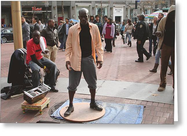 African-american Photographs Greeting Cards - Street tap dancers no. one Greeting Card by Hiroko Sakai