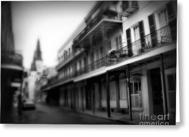 Historical Pictures Greeting Cards - Street to Jackson Square Greeting Card by Perry Webster