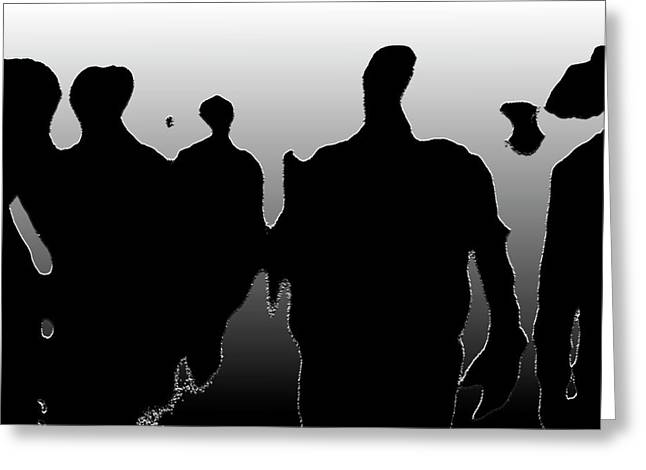 Freelance Photographer Photographs Greeting Cards - Street Walkers Greeting Card by Jerry Cordeiro