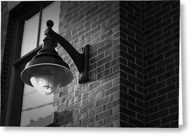 Shadows Cast Greeting Cards - Streetlamp Greeting Card by Eric Gendron
