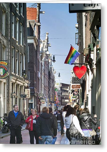 Gabled Greeting Cards - Streets of Amsterdam Greeting Card by Andre Goncalves
