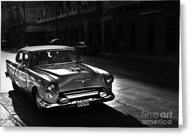Havanna Greeting Cards - Streets of Cuba 1 Greeting Card by Artecco Fine Art Photography