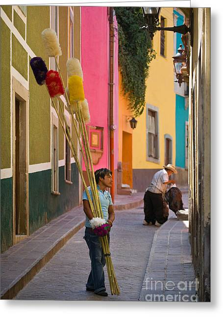 Traveling Salesman Greeting Cards - Streets of Guanajuato Greeting Card by Craig Lovell