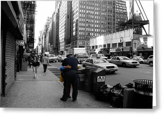 Nypd Greeting Cards - Streets of New York 4 Greeting Card by Andrew Fare