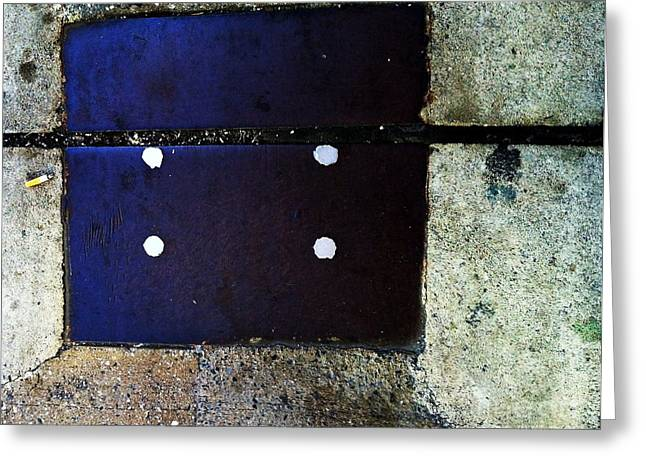 Streets Of New York Abstract Four Greeting Card by Marlene Burns