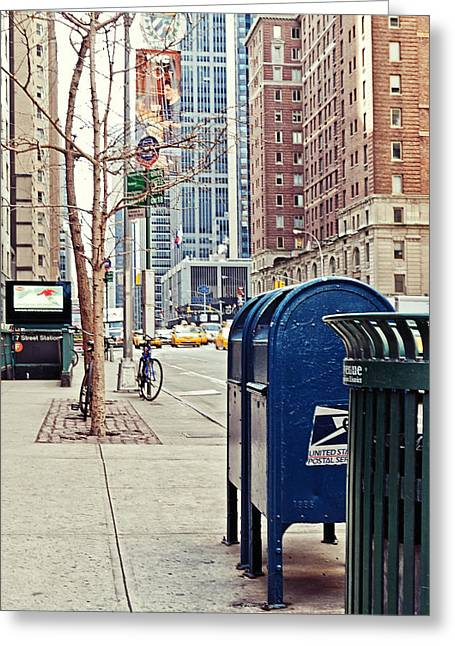 Advertising Office Greeting Cards - Streets of New York Greeting Card by Benjamin Matthijs