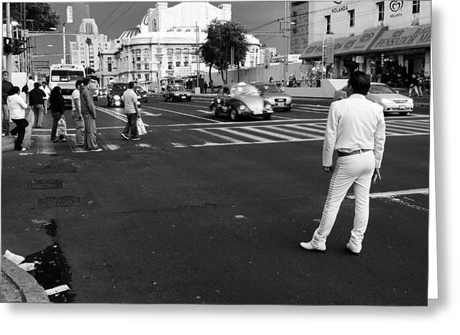 Mexico City Greeting Cards - Streetwalker Greeting Card by Skip Hunt