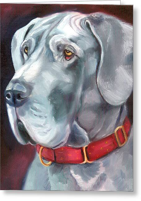 K9 Greeting Cards - Strength and Loyalty - Great Dane Greeting Card by Lyn Cook