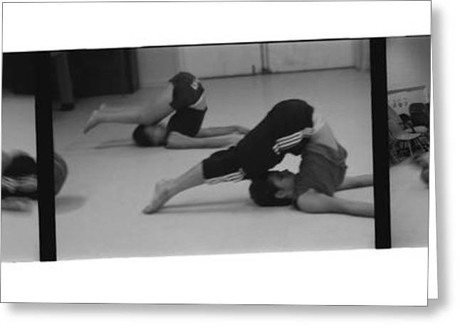 Dance Photo Greeting Cards - Stretch Bend and Roll Greeting Card by Heather Kirk
