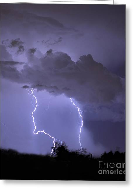 """lightning Strike"" Greeting Cards - Strike I Greeting Card by Heather Applegate"