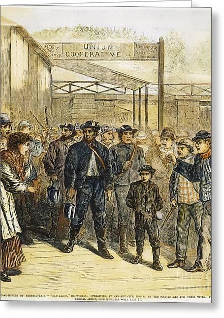 Striker Greeting Cards - Striking Coal Miners, 1871 Greeting Card by Granger