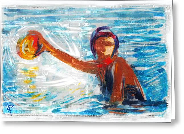 Goal Mixed Media Greeting Cards - Striking Distance Greeting Card by Russell Pierce