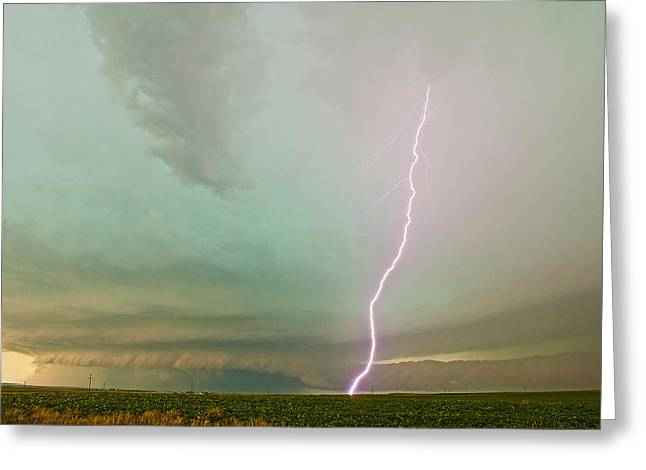 Supercell Greeting Cards - Striking Structure Greeting Card by Chris  Allington