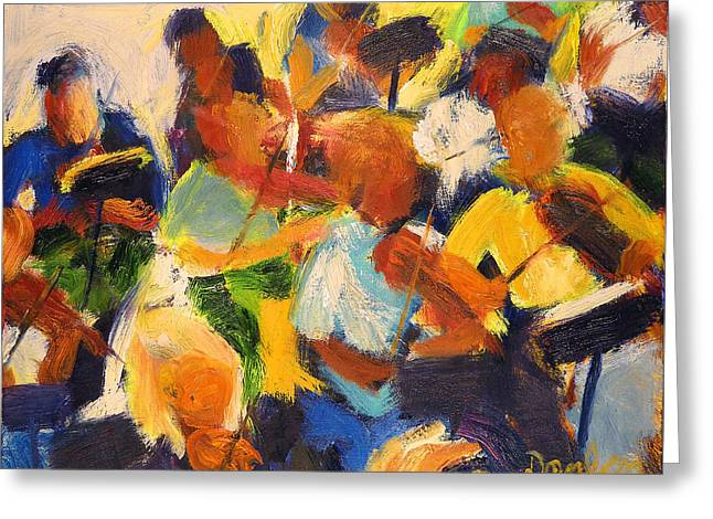 Movement Sculptures Greeting Cards - String Section Greeting Card by Bob Dornberg