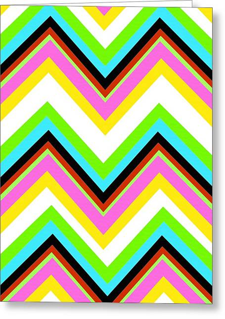 Bold Style Greeting Cards - Stripe Greeting Card by Louisa Knight