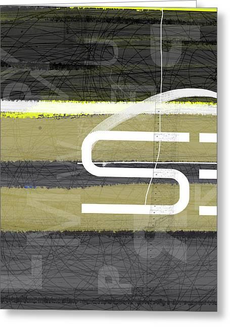 Stripes Greeting Card by Naxart Studio