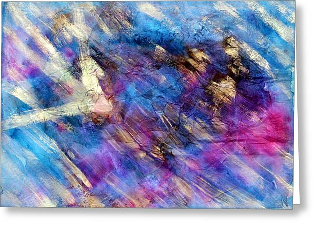 Oil Slick Greeting Cards - Strobe Light Greeting Card by Don  Wright