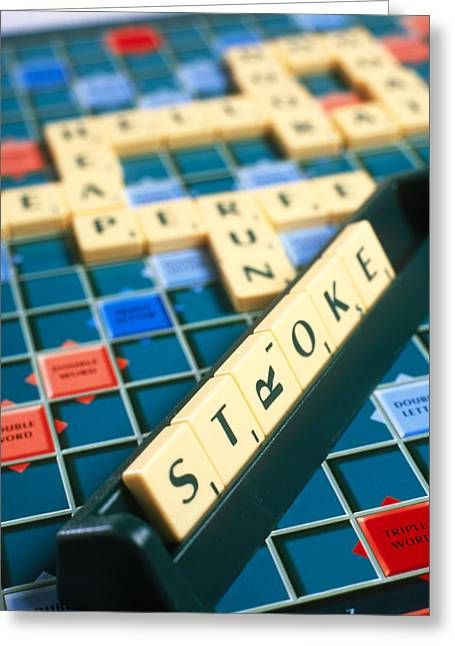 Scrabble Greeting Cards - Stroke Greeting Card by Tek Image