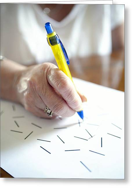 Mental Condition Greeting Cards - Stroke Test Greeting Card by