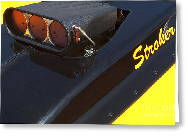 Truck Detail Greeting Cards - Stroker Hood Greeting Card by Bob Christopher