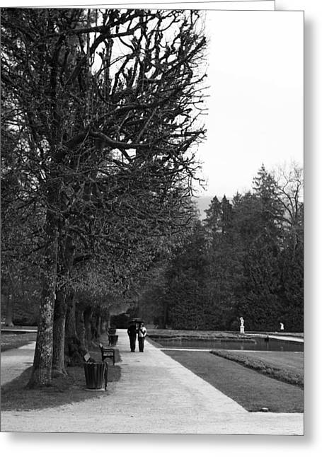 Stroll In The Park Greeting Cards - Stroll Greeting Card by Lauri Novak